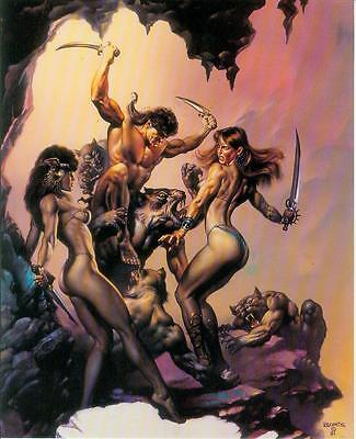 Boris Vallejo Postercard: Against the Odds (USA, 1992)