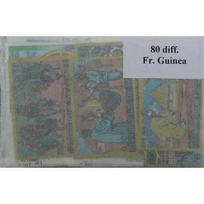 French Guinea, 80 stamps in packets. (ww085a)