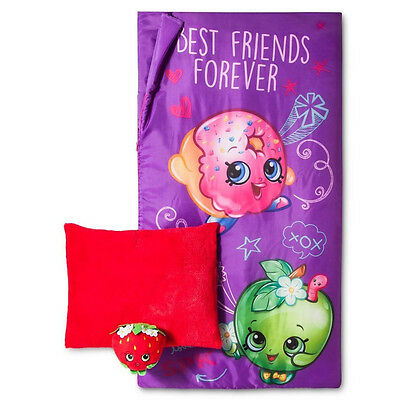 Shopkins Slumber Bag Indoor Be Forever with Pillow Red Sleeping Bag