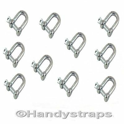 5mm,6mm,8mm,10mm, 12mm, 14mm, 16mm Galvanised Dee Shackle D Shackles