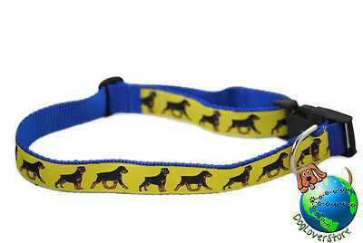 Rottweiler Dog Breed Adjustable Nylon Collar Extra Large 13-26″ Yellow