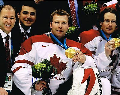 MARTIN BRODEUR signed TEAM CANADA 11x14 GOLD MEDAL PHOTO w/ COA