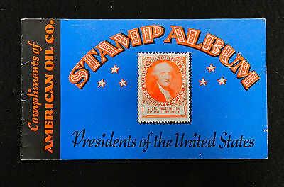 1936 American Oil Compmay Amoco Stamp Album Complete & Clean