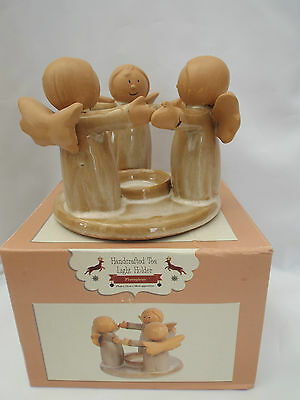 Circle Of Angels Friendship Tea light Candle Holder With Picture Gift Box