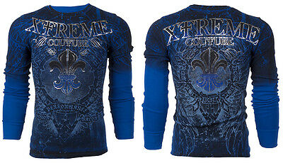 Xtreme Couture AFFLICTION Mens THERMAL T-Shirt HONORABLE Biker MMA UFC S-3XL $58