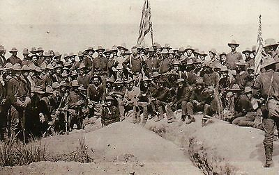 Colonel Theodore Roosevelt & His Rough Riders, San Juan Hill, President Postcard