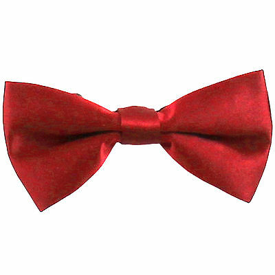 New KID'S BOY'S 100% Polyester Pre-tied Bow tie only Red party formal wedding