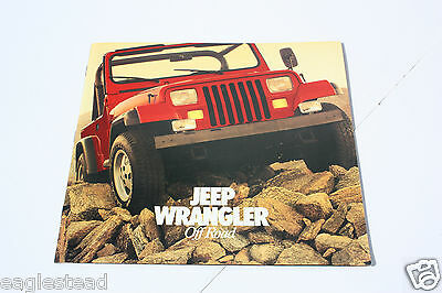 Auto Brochure - AMC - Jeep Wrangler - On Off Road -  c1986 - OS (AB417)