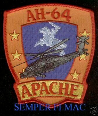 Ah-64 Apache Patch Us Army Veteran Attack Helicopter Pin Up Wing Pilot Crew Gift
