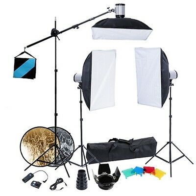 Eclairage studio 3 supports+3 flash+3 softboxes 50x70cm 190062