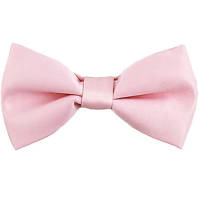 New KID'S BOY'S 100% Polyester Pre-tied Bow tie only light pink formal wedding