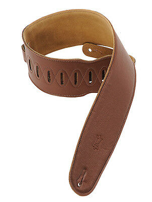 Levy's M4GF Brown Garment Leather Bass Strap
