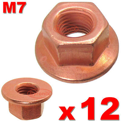 Bmw E60 E61 E34 E39 5 6 7 Series Exhaust Manifold Nuts Head Stud Lock Nut M7 Hex