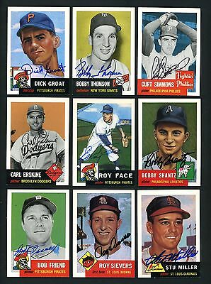 1953 Topps Archives LOT OF 36 SIGNED autographed cards Groat Boyer Sievers