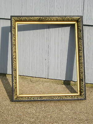 Antique Aesthetic Eastlake Victorian Marbled Edge Gold Gilt Picture Frame 11 5/8
