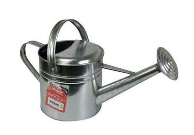 Galvanised Watering Can 5 Litre Capacity. With Rose And Two Handles