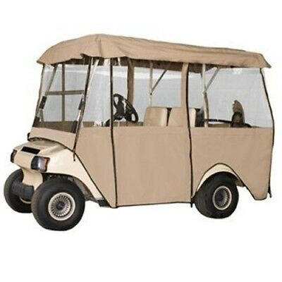 Deluxe 4 Sided 4 Person Golf Cart Full Cab Enclosure