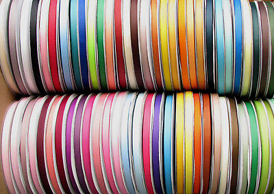 "10y 25y 50y 16mm 25mm 5/8"" 1"" Mixed Assorted Premium Grosgrain Ribbon Eco Gift"