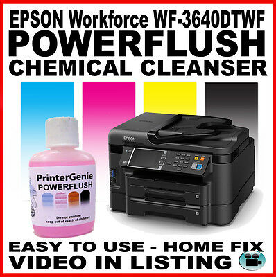 Printhead Cleaner & Nozzle Unblocker for: EPSON Workforce WF-3640DTWF / 3620DWF