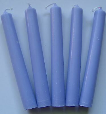 5 x LAVENDER SPELL WORK CANDLES CHIME 100 x 12mm Wicca Pagan Witch Goth Herb