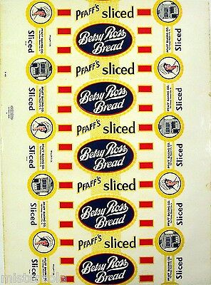 Vintage bread wrapper PFAFFS BETSY ROSS woman and house Fort Dodge Mason City IA