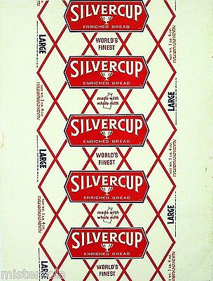 Vintage bread wrapper SILVERCUP Worlds Finest from 1961 Detroit Chicago New York