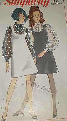Vintage 1960s Simplicity 8025 Jumper and Blouse Pattern 34B sz 12