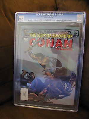 CGC graded 9.6 copy of DC Marvel comics Savage Sword of Conan #85 Bondage Cover