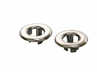 1965-1968 Ford MUSTANG Falcon - Door Lock Knob GROMMETS - CHROME - PAIR