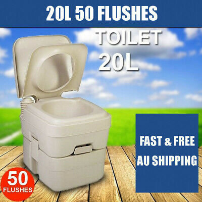 20L 50 Flushes  Outdoor Portable Camping Toilet w/ Carry Bag Travel Caravan