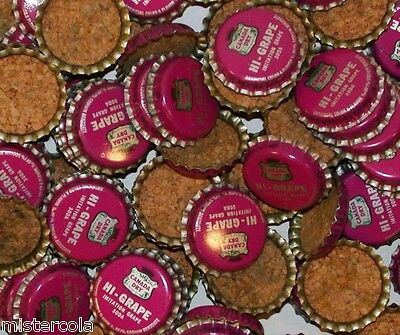 Soda pop bottle caps Lot of 25 CANADA DRY HI GRAPE cork lined new old stock