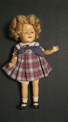 """SHIRLEY TEMPLE 1930'S IDEAL 16"""" COMPOSITION DOLL w/ ORIGINAL BRIGHT EYES  DRESS"""