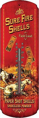 Tin Thermometer,Sure fire, Vintage Art,Advertising,1359