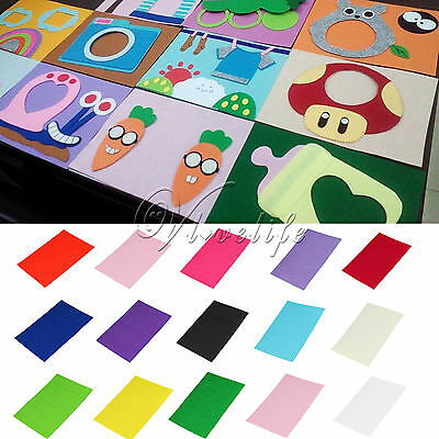 Handicraft A4 Sheets Felt Fabric Crafting 1mm thick sewing Glue Scrapbooking DIY