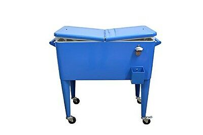 Rolling Drink Cart Tailgating Cooler Chest Drink Cart Cooler Bin Pool Party Cart