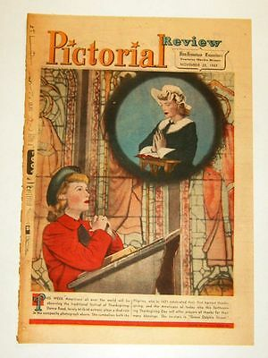 11/23/1947 - DONNA REED - Pictorial Review Cover Picture (framable)