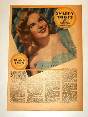 1946 - DIANA LYNN - Snappy Shots - Dorothy Manners (framable)