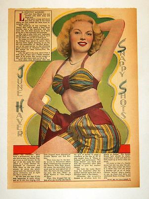 1948 - JUNE HAVER - Snappy Shots - Dorothy Manners (framable)