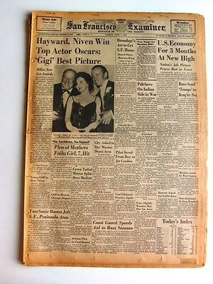 4/7/1959 - 'GIGI' Best Picture at Oscars - Hayward, Niven Win Top Actor Oscars