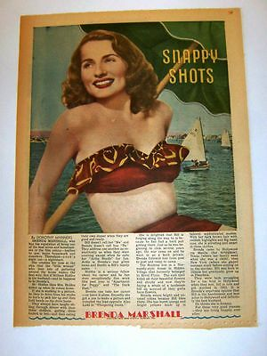 1949 - Brenda Marshall - Snappy Shots by Dorothy Manners - framable