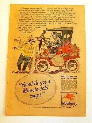 July 9, 1950 - MOBILGAS - Newspaper ad - Drawn by TARA