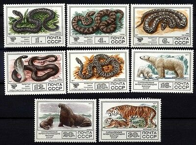9214 Russia 1977 Animals & Snakes Mnh