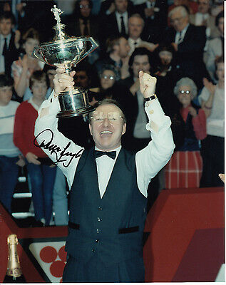 Dennis Taylor Hand Signed Photo 10x8 Snooker Champion.