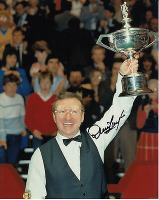 Dennis Taylor Hand Signed Photo 10x8 Snooker Champion 1.