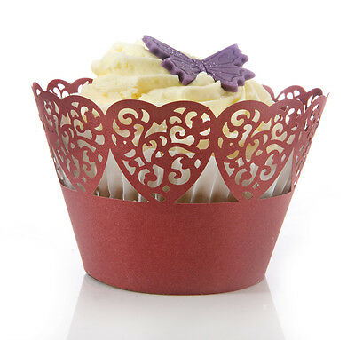 Eddingtons Red Hearts Cupcake Wrappers  Pack of 10