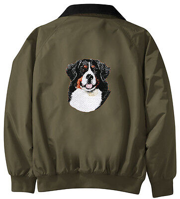 Bernese Mountain Dog Embroidered Jacket - Jacket Back - Sizes XS thru XL
