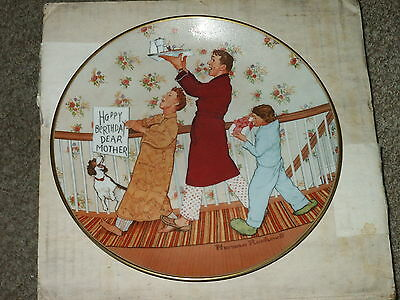 Vintage Norman Rockwell Happy Birthday Mother Plate 1978 AMERICAN FAMILY SERIES