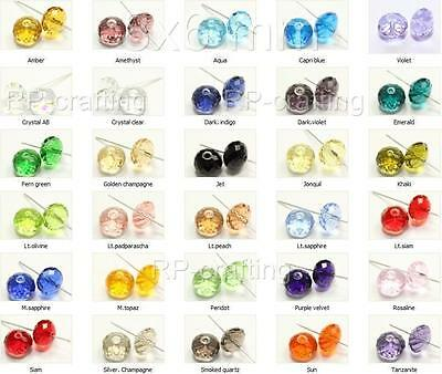 18 Top Quality Austria Rondelle Crystal Beads 6x4mm for Austrian@#5040 U Pick