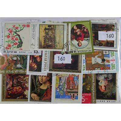 200 Paintings stamps. (160)
