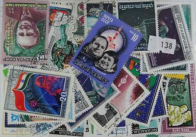 100 Space stamps. All different. (138)